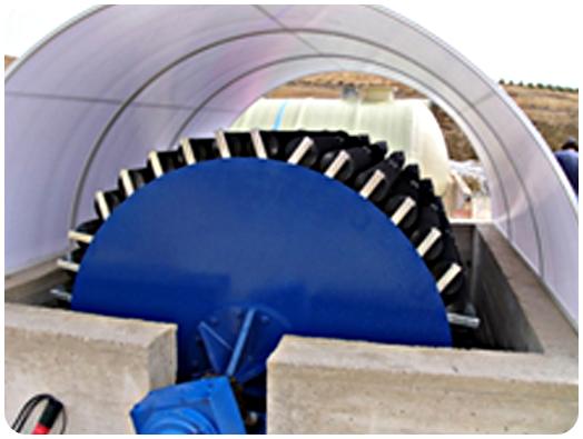 biodiscos de aguas residuales
